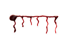 Red dripped blood. Halloween concept. Royalty Free Stock Images