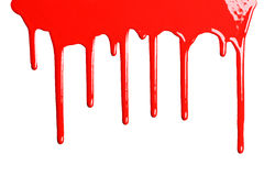 Red dripping paint Stock Image