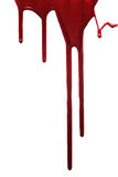 Red drop of blood isolated Royalty Free Stock Photography
