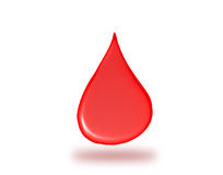 Red drop falling down, symbol of healthcare Stock Photography