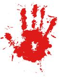 Red drop ink splatter hand print Royalty Free Stock Photos