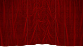 Red dropping Curtain Stock Photos