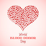 Red Drops of Blood in Shape of Heart Stock Photography