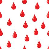 Drops of blood vector seamless pattern. Stock Image