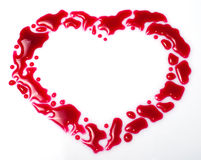 Red drops heart Stock Image