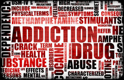 Red Drug Addiction vector illustration