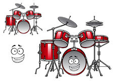 Red drum kit cartoon character Stock Photo