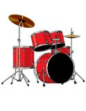 Red Drum Set Royalty Free Stock Image