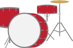 Red Drum Set Stock Photography