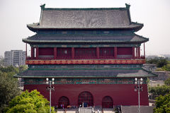 Red Drum Tower Beijing China Royalty Free Stock Photography