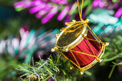 Red drum toy decorations. Stock Image