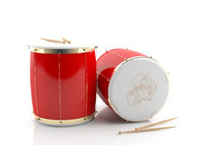 Red drums 3d model Stock Photography
