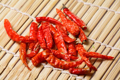 Red dry chillies Stock Images