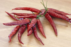 Red dry chillies Royalty Free Stock Image