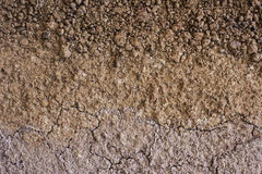 Red dry clay loam closeup as background Royalty Free Stock Photo