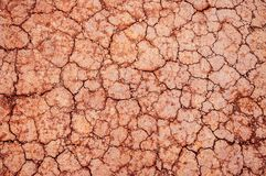 Red Dry cracked soil texture background, dry Laterite soil texture royalty free stock photography