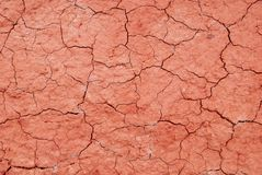 Red dry surface texture Royalty Free Stock Photography