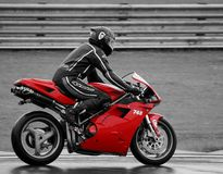 Red Ducati Royalty Free Stock Images
