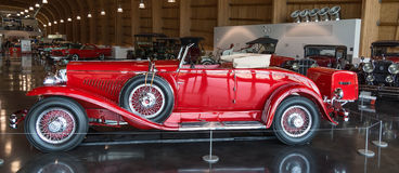 Red 1930 Duesenberg. On display at the American Car Museum, Tacoma, Washington. 9 May, 2015 Stock Photos