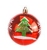 Red dull christmas ball Royalty Free Stock Photography