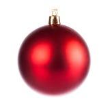 Red dull christmas ball Stock Photos