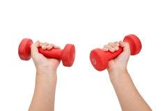 Red Dumbbell Royalty Free Stock Images