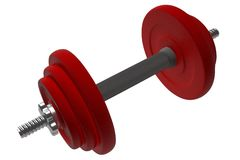 Red dumbell Stock Photography