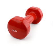 Red dumbell Royalty Free Stock Image