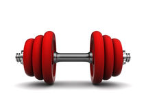 Red dumbell Stock Images