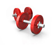 Red Dumbells Royalty Free Stock Photography
