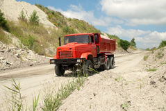 Red dump truck Stock Photography