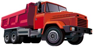 Red Dumper Royalty Free Stock Photography