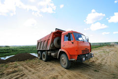 Red dumper Stock Photos