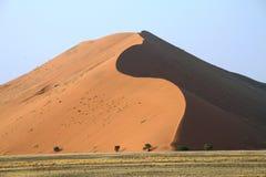 Red dune in namib desert Royalty Free Stock Photo