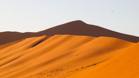 Red dunes of Namib Desert near Sossusvlei, aka Sossus Vlei, Namibia, Africa Royalty Free Stock Photography