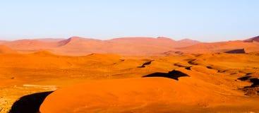 Red dunes of Namib Desert near Sossusvlei, aka Sossus Vlei, Namibia, Africa Stock Photos