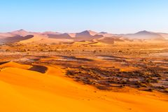 Red dunes of Namib Desert near Sossusvlei, aka Sossus Vlei, Namibia, Africa stock photos