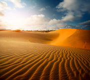 Red dunes near the town of Mui Ne Royalty Free Stock Photography