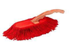 Red duster cleaner brush isolated  Stock Photography
