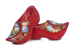 Red dutch clogs Stock Image