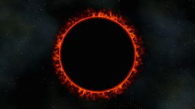 Red dwarf sun eclipse, 3d render Royalty Free Illustration