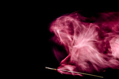 Red dynamic smoke. Royalty Free Stock Photos