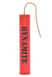 Red Dynamite with Dynamite Sign Royalty Free Stock Photos