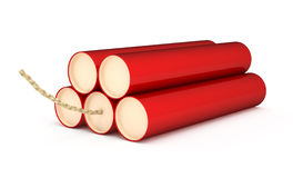 Red Dynamite  on a white Stock Images