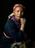 Red Dzao indigenous woman in Sapa 2 Royalty Free Stock Images