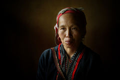 Red Dzao indigenous woman in Sapa Stock Photo