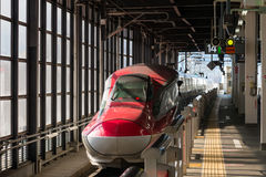 The Red E6 Series bullet (High-speed) train. Royalty Free Stock Image