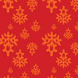 Red eamless pattern in the Indian style Royalty Free Stock Images