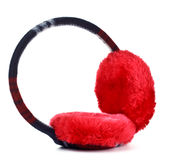 Red earmuff Royalty Free Stock Images