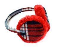 Red earmuff Royalty Free Stock Photography